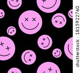 seamless pattern of happy round ... | Shutterstock .eps vector #1815922760