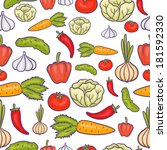 veggie seamless pattern with... | Shutterstock . vector #181592330