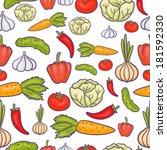 veggie seamless pattern with... | Shutterstock . vector #181592330