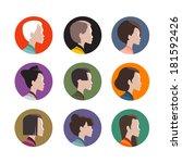 head icons | Shutterstock .eps vector #181592426