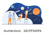 man studying galaxy through... | Shutterstock .eps vector #1815956096