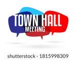 town hall meeting on speech... | Shutterstock .eps vector #1815998309
