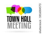 town hall meeting on speech... | Shutterstock .eps vector #1816004573