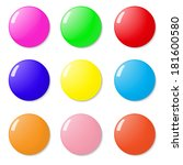 magnets  buttons color on a... | Shutterstock . vector #181600580