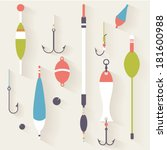 fishing tackle 3. | Shutterstock .eps vector #181600988