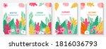 vector set four seasons  winter ... | Shutterstock .eps vector #1816036793