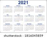 Horizontal Blue Pocket Calendar ...