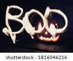 Word Boo Drawn With Light...