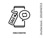 mobile marketing  digital...   Shutterstock .eps vector #1816046513