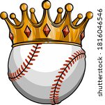 king of baseball concept  a...   Shutterstock .eps vector #1816046546