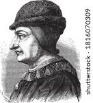 louis xi of france  vintage... | Shutterstock .eps vector #1816070309