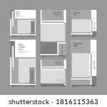 trendy editable template for... | Shutterstock .eps vector #1816115363