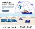 global logistic industry ... | Shutterstock .eps vector #1816118606