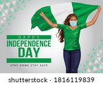 1st october nigeria... | Shutterstock .eps vector #1816119839