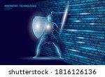 cyber safety khight on data... | Shutterstock .eps vector #1816126136