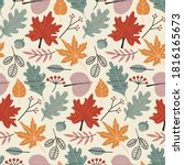 vector colorful autumn natural... | Shutterstock .eps vector #1816165673