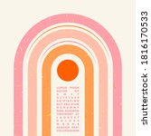 minimal geometric typography... | Shutterstock .eps vector #1816170533