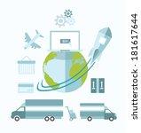 digitally generated global...   Shutterstock .eps vector #181617644