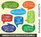 happy easter    set of humorous ...   Shutterstock .eps vector #181618274