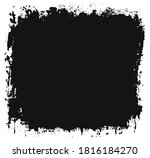 vector grunge dirty black... | Shutterstock .eps vector #1816184270