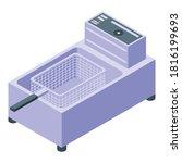machine deep fryer icon.... | Shutterstock .eps vector #1816199693