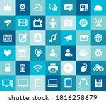 trendy flat design big social...