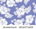 hibiscus hawaii seamless...   Shutterstock .eps vector #1816271609