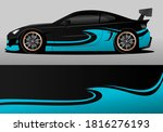 car wrap design with blue and... | Shutterstock .eps vector #1816276193