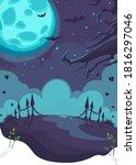 halloween theme on the...   Shutterstock .eps vector #1816297046