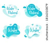 mineral water tag. blue label... | Shutterstock .eps vector #1816310879
