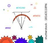 bike rack filled line icon ...