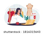 beauty blogger selling fashion... | Shutterstock .eps vector #1816315643