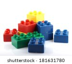 plastic blocks | Shutterstock . vector #181631780