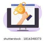 web digital award online on... | Shutterstock .eps vector #1816348373
