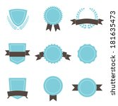 set of badges  shields and... | Shutterstock . vector #181635473