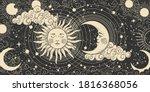 magical banner for astrology ... | Shutterstock .eps vector #1816368056