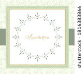 wedding card or invitation with ... | Shutterstock .eps vector #1816383866