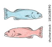 fish sketch for your design | Shutterstock .eps vector #181638590