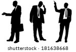 vector silhouette of... | Shutterstock .eps vector #181638668