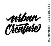 urban creature. handwritten...   Shutterstock .eps vector #1816387853
