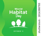 World Habitat Day Vector Design ...