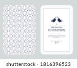 wedding card or invitation with ... | Shutterstock .eps vector #1816396523