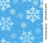 snowflakes seamless pattern.... | Shutterstock .eps vector #1816401269