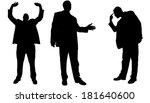vector silhouette of... | Shutterstock .eps vector #181640600