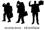 vector silhouette of... | Shutterstock .eps vector #181640666