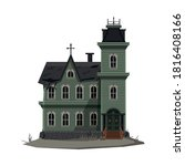 scary gothic house  halloween...   Shutterstock .eps vector #1816408166