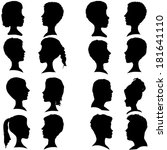 vector silhouettes of different ... | Shutterstock .eps vector #181641110