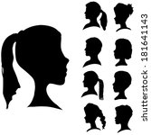 vector silhouettes of different ... | Shutterstock .eps vector #181641143