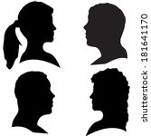 vector silhouettes of different ... | Shutterstock .eps vector #181641170