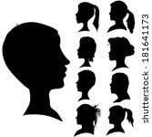vector silhouettes of different ... | Shutterstock .eps vector #181641173